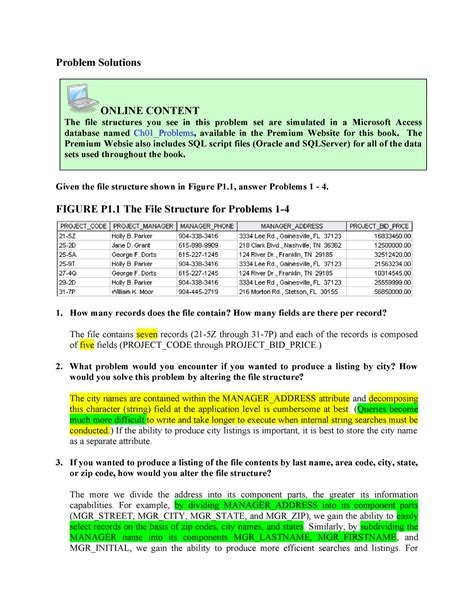 Database Systems Design Implementation And Management Solution Manual