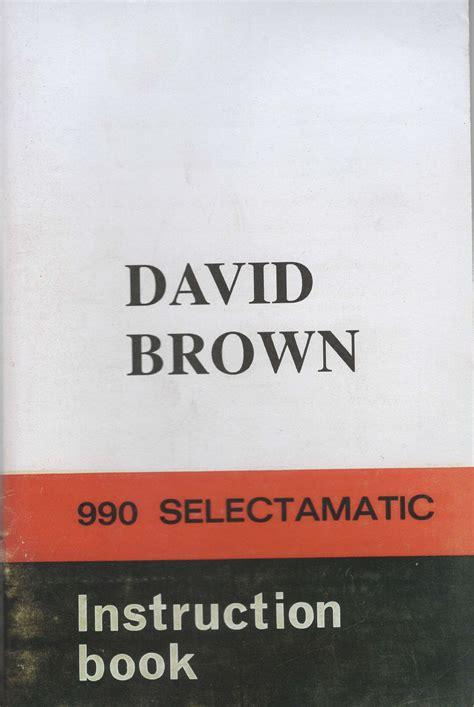 David Brown 990 A Manual