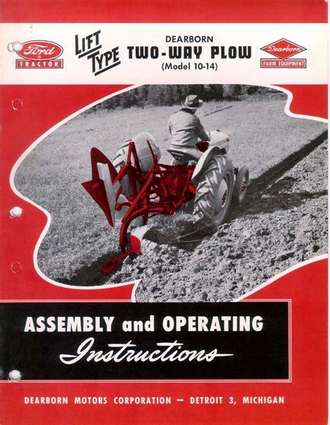 Dearborn 10 231 Plow Manual