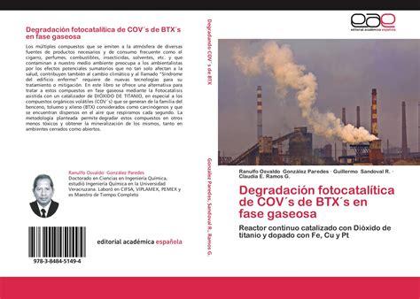 Degradacion Fotocatalitica De Cov S De Btx S En Fase Gaseosa Reactor Continuo Catalizado Con Dioxido De Titanio Y Dopado Con Fe Cu Y Pt