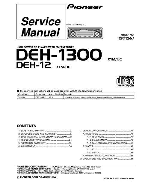 Deh 1300 Manual