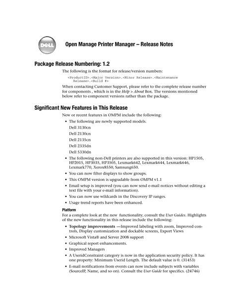 Dell 2335dn Manual