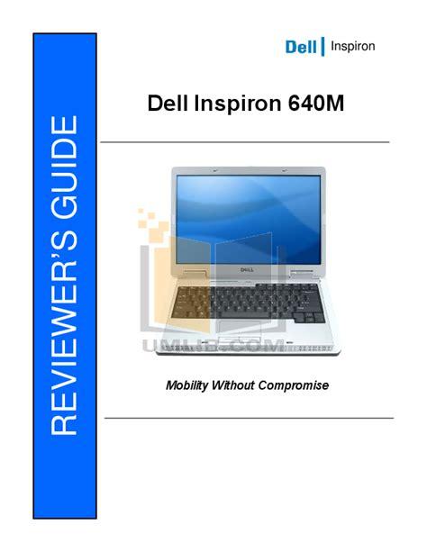 Dell Manual Inspiron 640m