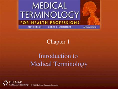 Delmar Medical Terminology Chapter 14