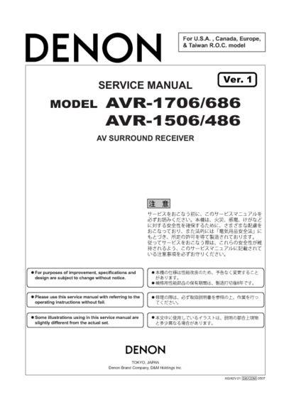 Denon Avr 686 486 Service Manual Repair Guide