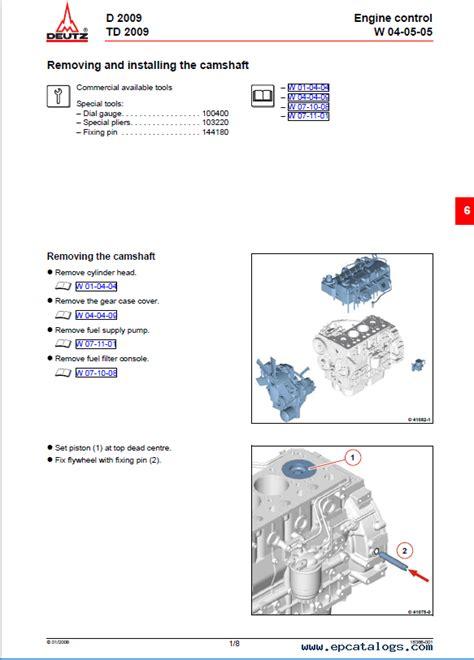 Deutz D2009 Dt2009 Workshop Service Manual