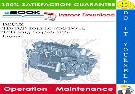 Deutz Tcd2012 L04 Engine Manuals