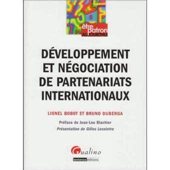 Developpement Et Negociation De Partenariats Internationaux