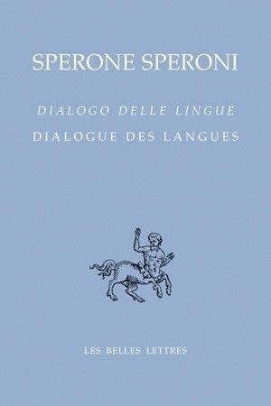 Dialogue Des Langues Dialogo Delle Lingue