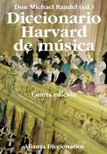 Diccionario Harvard De Musica Alianza Diccionarios Ad
