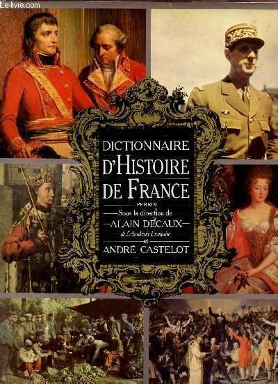 Dictionnaire d'histoire de France