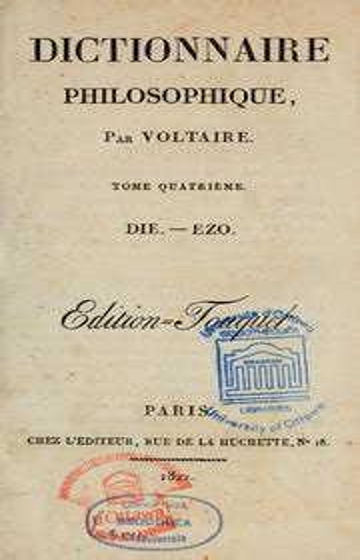 Dictionnaire philosophique vol. 10