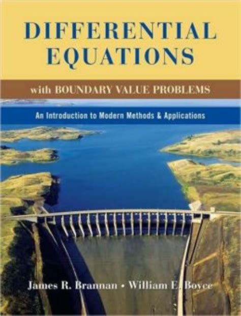 Differential Equations With Boundary Value Problems An Introduction To Modern Methods And Applications
