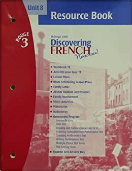 Discovering French Rouge Workbook Answers Unit 6