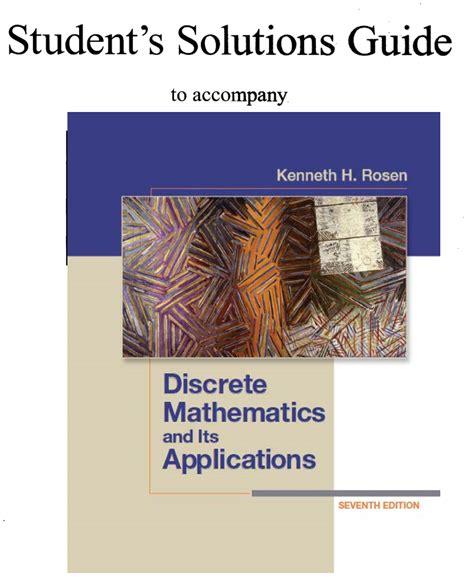 Discrete Mathematics Rosen Solution Manual