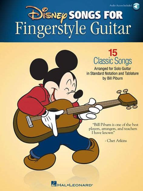 Disney Songs For Fingerstyle Guitar 15 Classic Songs Arranged By Solo Guitar In Standard Notation And Tablature