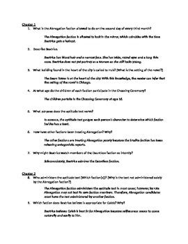 Divergent Study Guide Answer