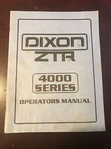 Dixon 4000 Series Mower Service Manual