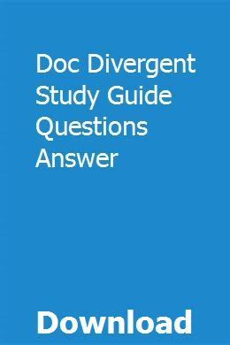 Doc Divergent Study Guide Questions Answer