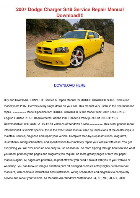Dodge Charger Shop Manual