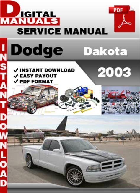 Dodge Dakota 2003 Service And Repair Manual