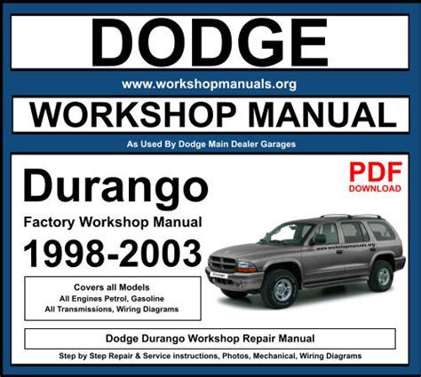 Dodge Durango 2004 2009 Workshop Service Manual