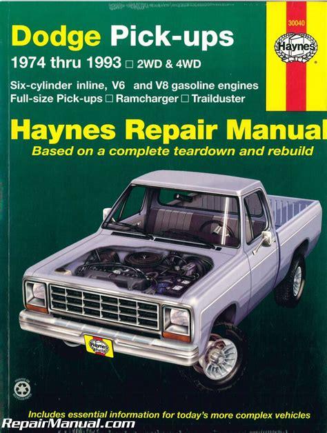 Dodge Truck 1993 Full Service Repair Manual