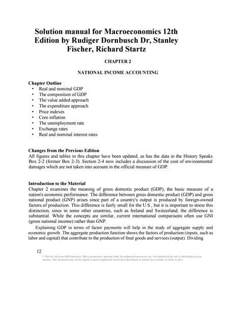 Dornbusch Macroeconomics Solutions Manual