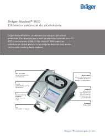 Draeger 9510 Manual