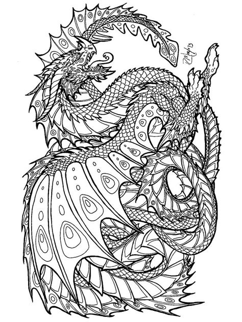 Dragon Adults Coloring Book