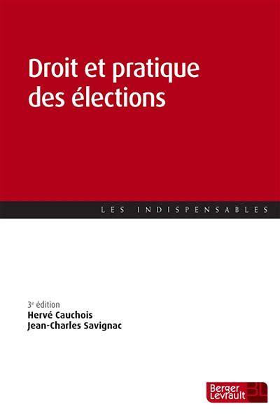Droit Et Pratique Des Elections