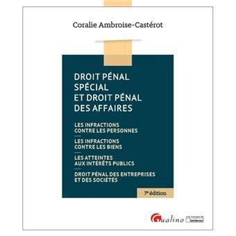 Droit Penal Des Affaires 7e Ed