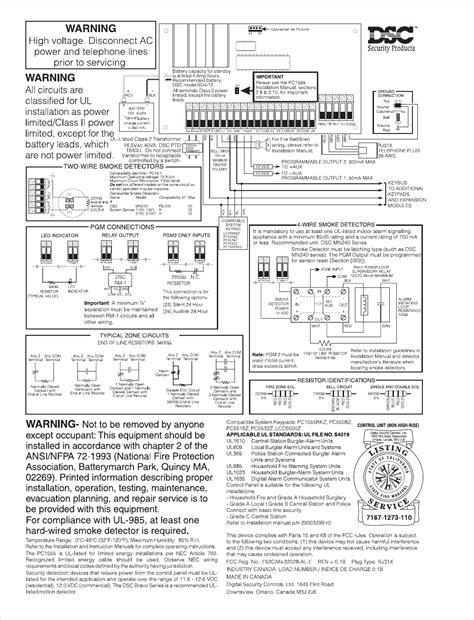 Dsc Alarm System Manual Pc1555rkz