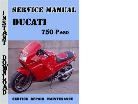 Ducati 750 Paso Service Repair Manual