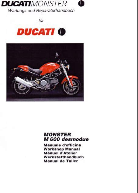Ducati Monster 600 Service Manual Italiano