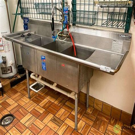 Duke 3 Compartment Sink Manual