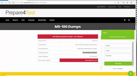 Dumps MS-100 Guide