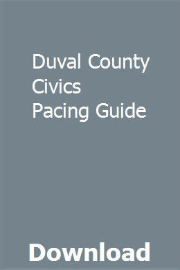 Duval County Civics Pacing Guide
