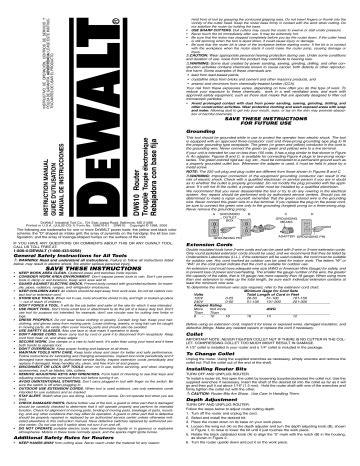 Dw610 Manual