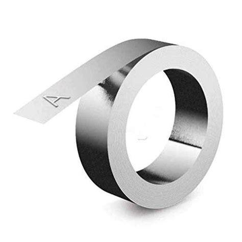 Dymo Rhino M1011 Ruban D Impression Non Adhesif Acier Inoxydable 12mm Inox Lot De 10