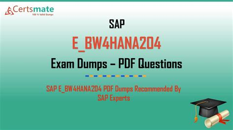 E_BW4HANA204 Certification Exam Dumps