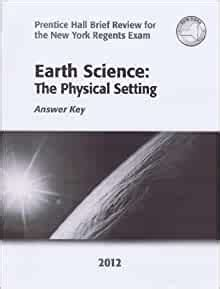 Earth Science Physical Setting Answer Key 2013