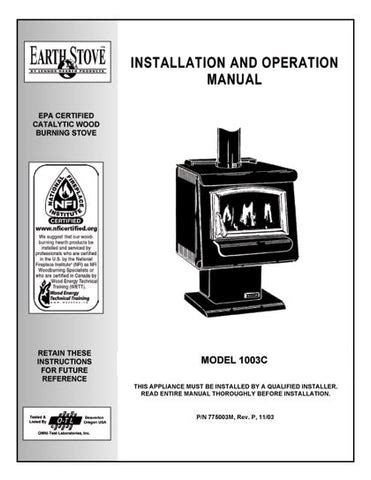 Earth Stove Model 101 Owners Manual