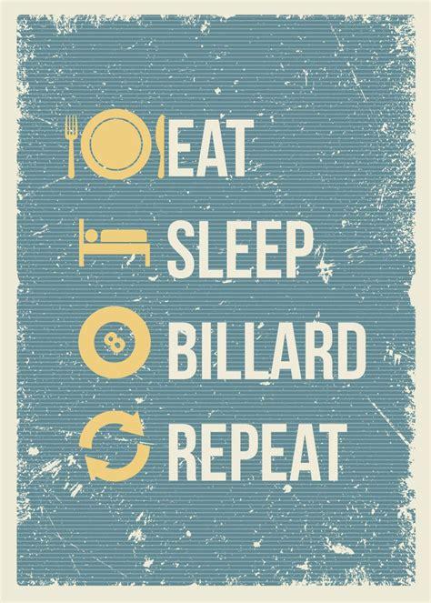 Eat Sleep Billard Repeat Billard Notizbuch Billiard Notebook Pool Planer Snooker Journal 6x9 Squared Kariert