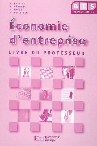 Economie D Entreprise Bts 1re Annee