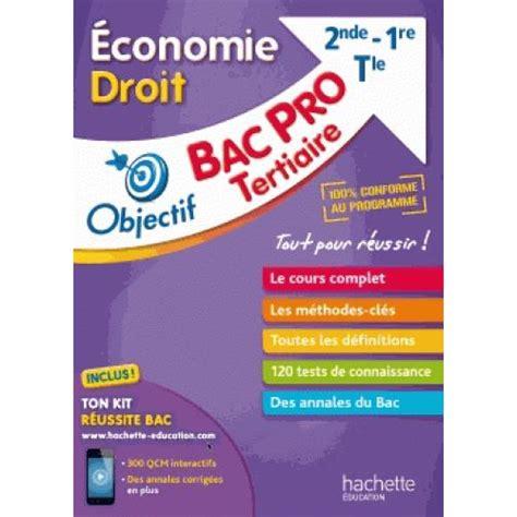 Economie Droit Bac Pro Tertiaire