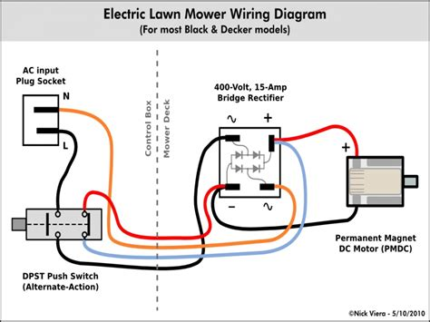 Electric Lawn Mower Wiring Schematics