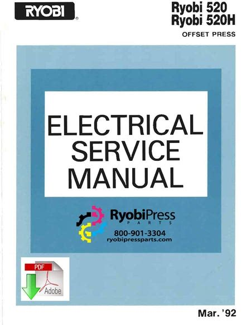 Electrical Service Manual Ryobi 3200