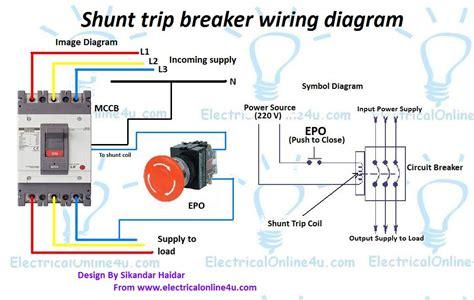 Electrical Shunt Trip Diagram