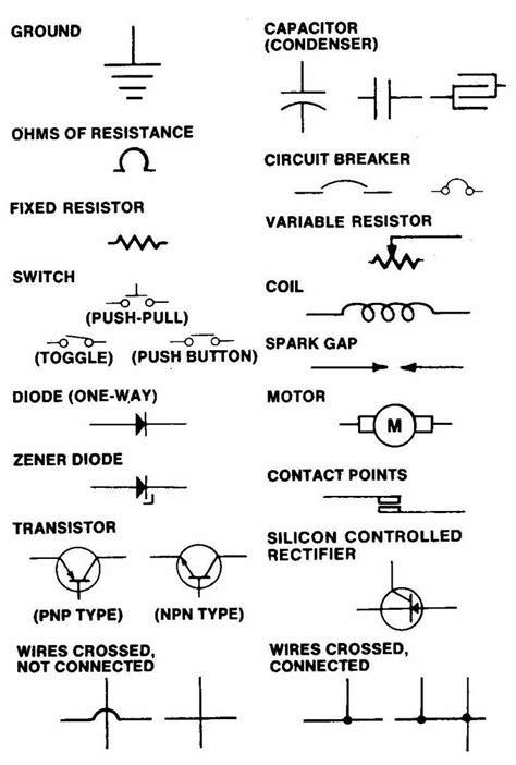 Electrical Symbols Free  Wiring Diagram